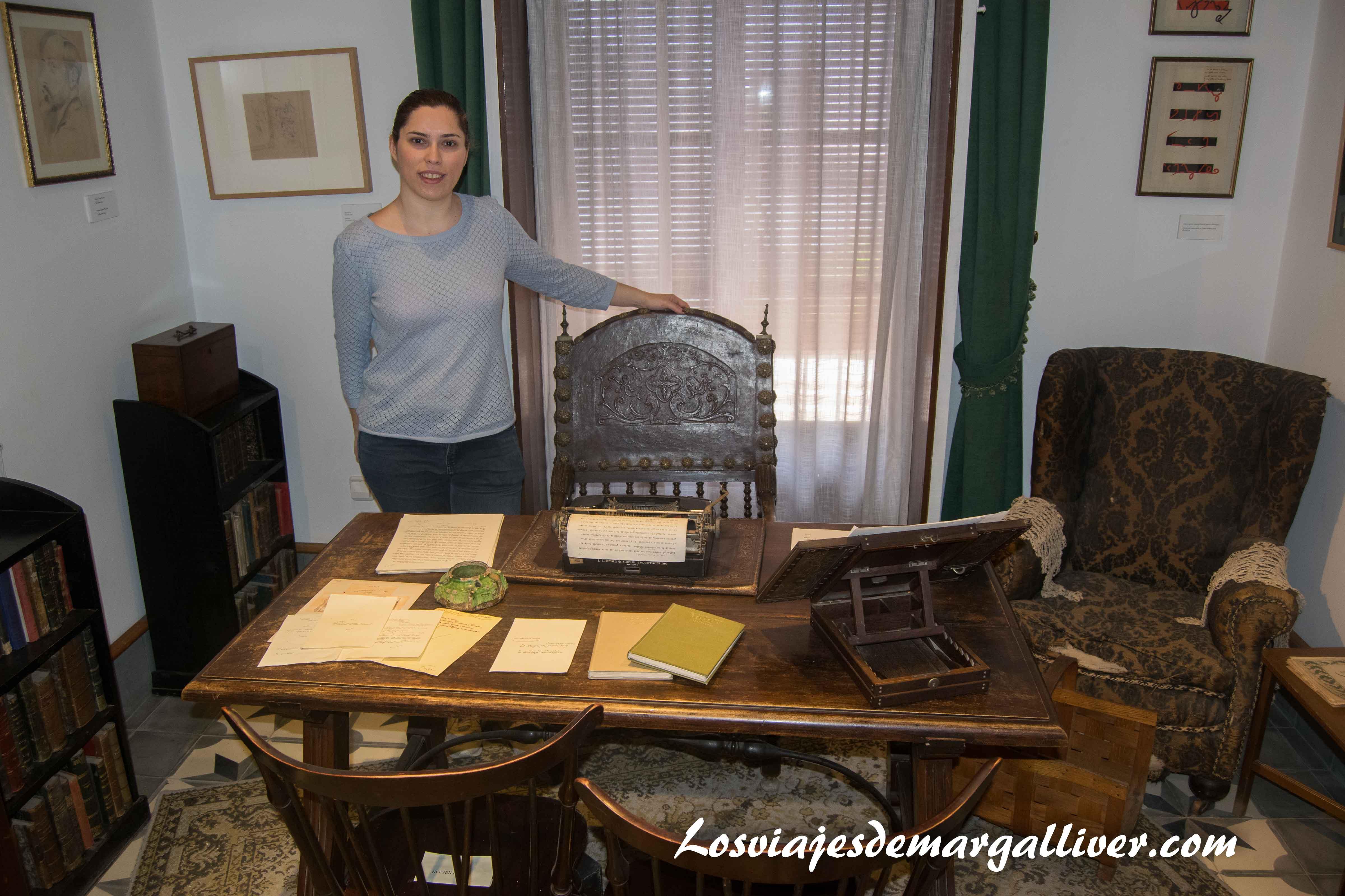 Despacho de la casa museo de J.R Jiménez - Zenobia en Moguer - Los viajes de Margalliver